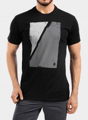 Koszulka Black Diamond Block Print Mountain Tee - black