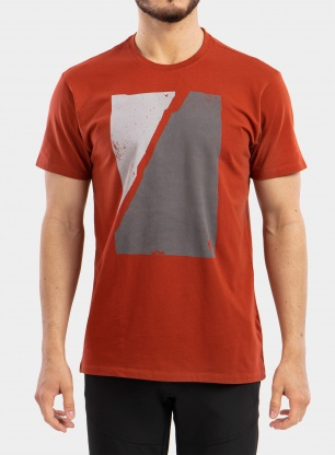 Koszulka Black Diamond Block Print Mountain Tee - red rock