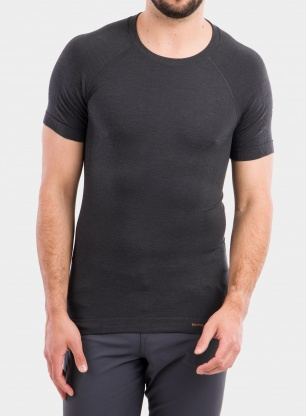 Koszulka Brubeck Active Wool T-shirt - graphite