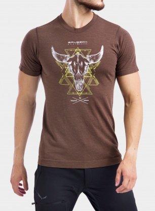 Koszulka Brubeck Outdoor Wool Pro T-Shirt - brown