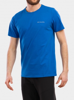 Koszulka Columbia Sun Trek Short Sleeve Tee - bright indigo