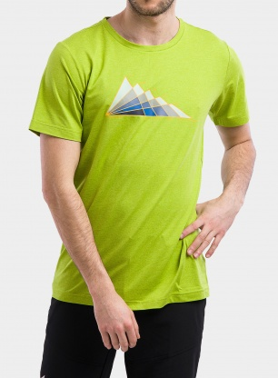 Koszulka Columbia Tech Trail Graphic Tee - matcha tonal peaks