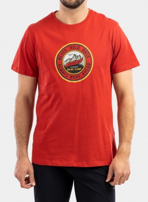 Koszulka Craghoppers Mightie S/S T-Shirt - pompeian red circle