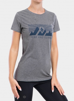 Koszulka damska Black Diamond Rise and Climb Tee - charcoal heather