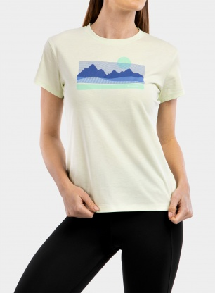 Koszulka damska Columbia Sun Trek Graphic Tee - light lime/painted