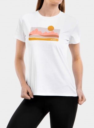Koszulka damska Columbia Sun Trek Graphic Tee - white/painted