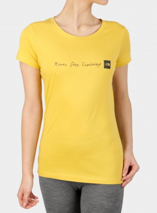 Koszulka damska The North Face Never Stop Exploring Tee S/S - b.yellow