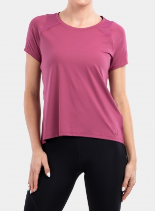 Koszulka damska Under Armour IsoChill Run 200 S/S - pink quartz/pink