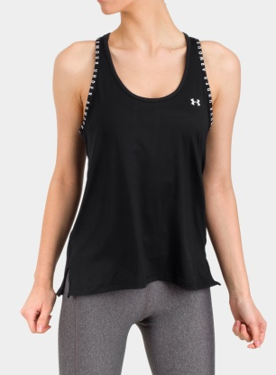 Koszulka damska Under Armour Knockout Tank - black/white