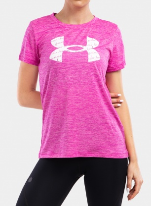 Koszulka damska Under Armour Tech Twist BL SSC - m.pink/planet
