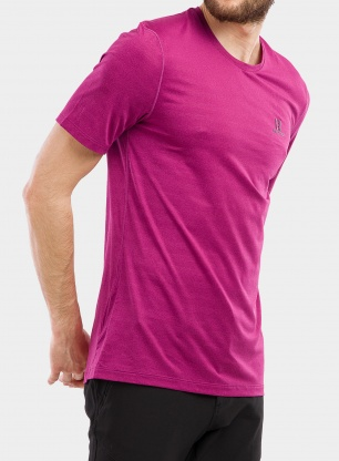 Koszulka do biegania Salomon XA Tee - fuchsia red/heather