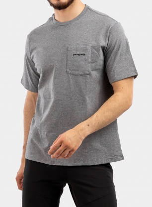 Koszulka Patagonia P-6 Logo Pocket Responsibili-Tee - gravel heather