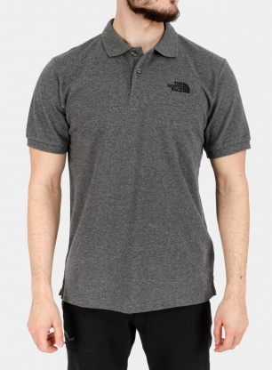 Koszulka polo The North Face Polo Piquet - m.grey/black