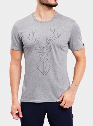 Koszulka z nadrukiem Salewa Big Deer S/S Tee - heather grey