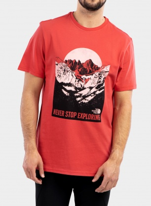 Koszulka The North Face Natural Wonders Tee S/S - roc. red