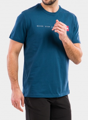Koszulka The North Face Never Stop Exploring Tee S/S - blue