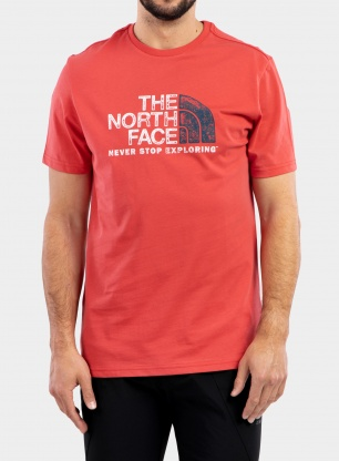 Koszulka The North Face Rust 2 Tee S/S - rococco red