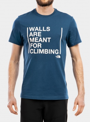Koszulka The North Face S/S Walls Are For Climbing Tee - bl