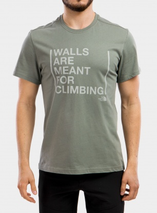 Koszulka The North Face S/S Walls Are For Climbing Tee - grn