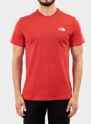 Koszulka The North Face Simple Dome Tee S/S - rococco red