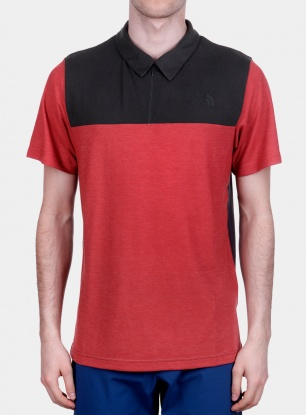 Koszulka The North Face Technical Polo S/S - asphalt grey/red