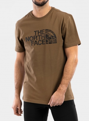 Koszulka The North Face Woodcut Dome Tee S/S - olive