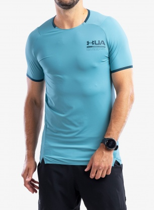 Koszulka Under Armour HG IsoChill Perforated S/S - cosmos/d.cyan