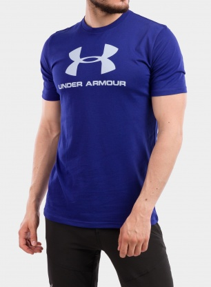 Koszulka Under Armour Sportstyle Logo SS - regal/i.blue