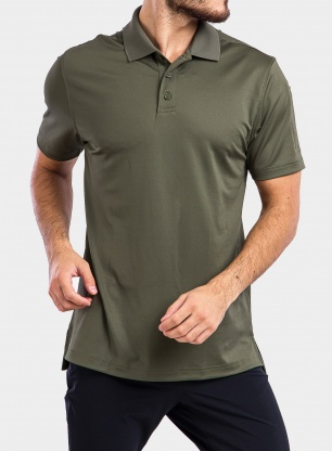Koszulka Under Armour Tac Performance Polo - green/green