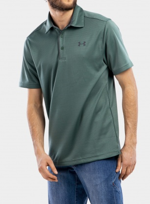 Koszulka Under Armour Tech Polo - toddy green/pitch gray