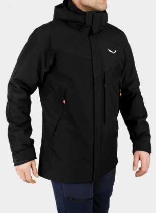 Kurtka 3w1 męska Salewa Stelvio Convertible Jacket - black out