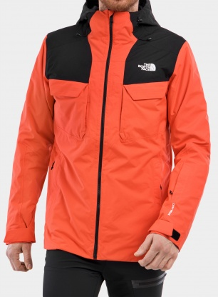 Kurtka 3w1 The North Face Fourbarrel Triclimate - flare/tnf black