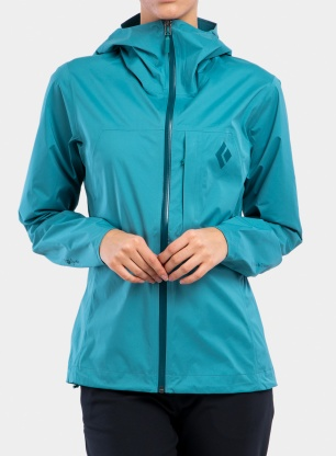 Kurtka damska Black Diamond FineLine Stretch Rain Shell - aqua verde