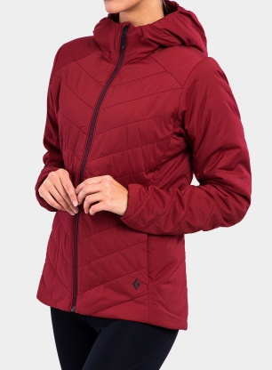 Kurtka damska Black Diamond First Light Stretch Hoody - dark crimson