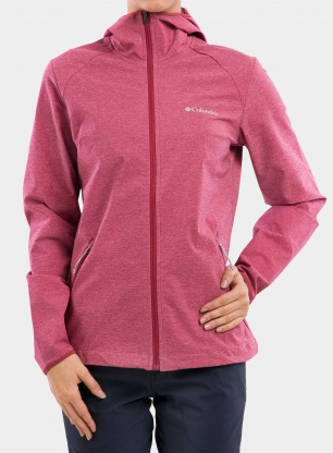Kurtka damska Columbia Heather Canyon Softshell - red orchid