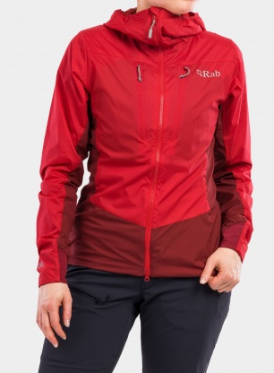 Kurtka damska Rab VR Alpine Light Jacket - oxblood red/ruby