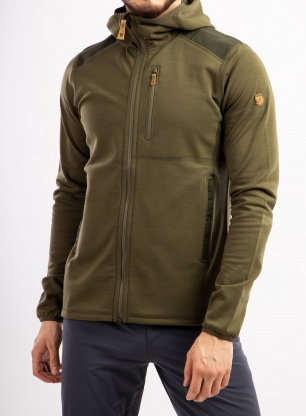Kurtka Fjallraven Keb Fleece Hoodie - laurel green/deep forest