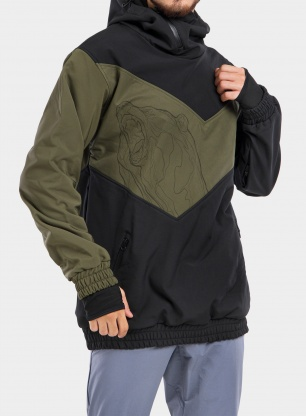 Kurtka Majesty Shadow softshell - black/army green