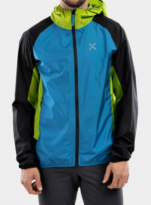 Kurtka Montura Teorema Jacket - teal blue/acid green