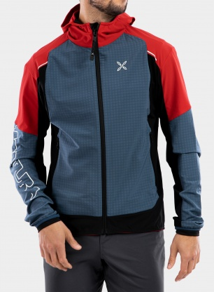 Kurtka Montura Wind Revolution Hoody Jacket - powder blue/red