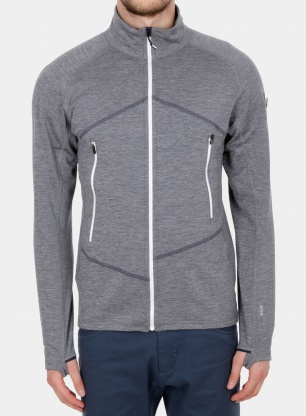 Bluza Ortovox Fleece Light Melange Jacket - grey blend