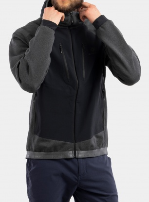 Kurtka polarowa BlackYak Mishima Hoody - iron gate