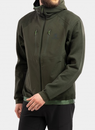 Kurtka polarowa BlackYak Mishima Hoody - rifle green