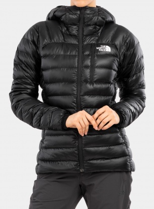Kurtka puchowa damska The North Face Summit Down Hoodie - blk