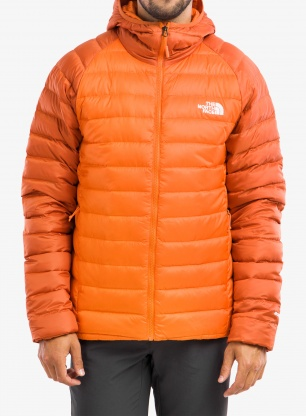 Kurtka puchowa The North Face Trevail Hoodie - red/burnt