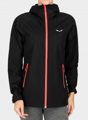 Damska kurtka Salewa Puez Aqua 3 PTX Jacket - black out/red