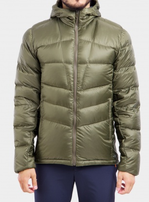 Kurtka puchowa Salomon Transition Down Hoodie - olive