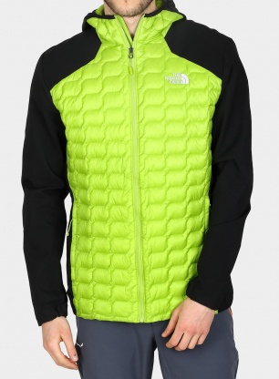 Kurtka The North Face New Thermoball Hybrid Hoodie - lime green/black