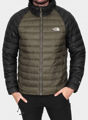 Kurtka puchowa The North Face Trevail Hoodie - new taupe green/black
