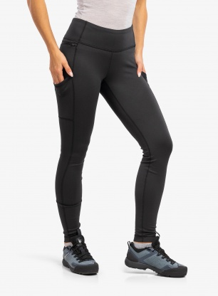 Legginsy termoaktywne damskie Patagonia Pack Out Tights - black